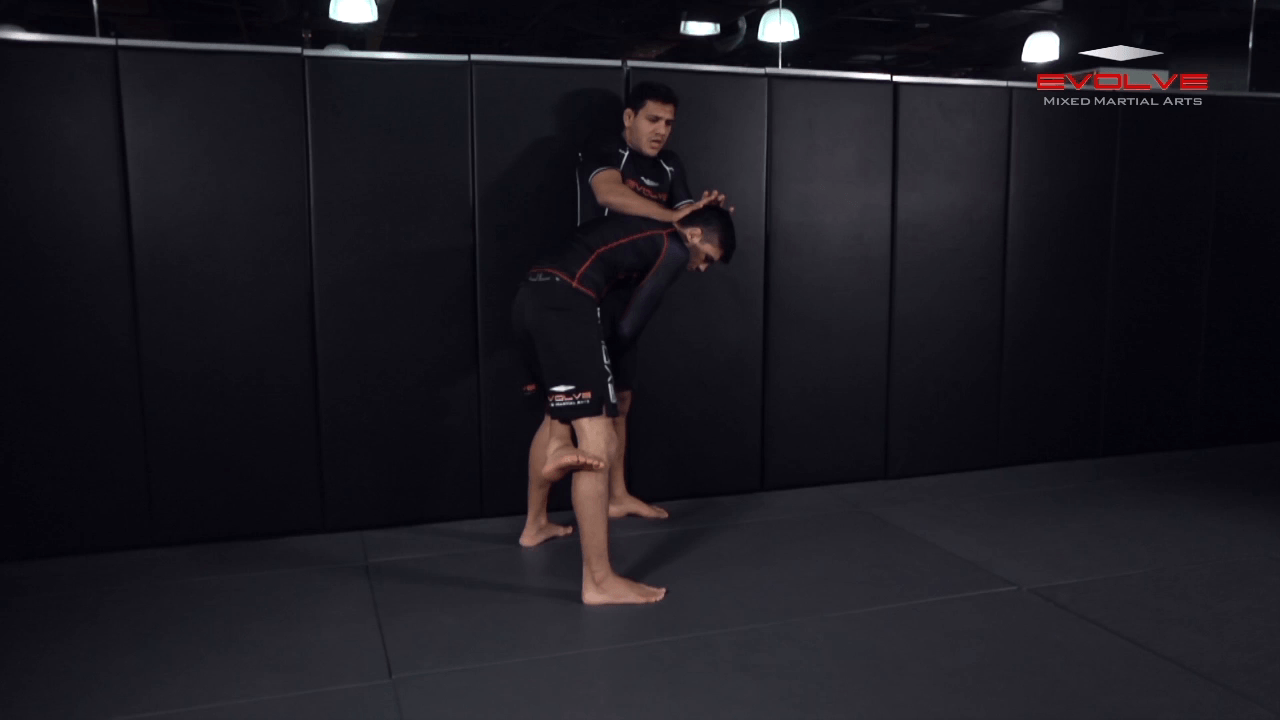Single Leg Defense Against The Cage
