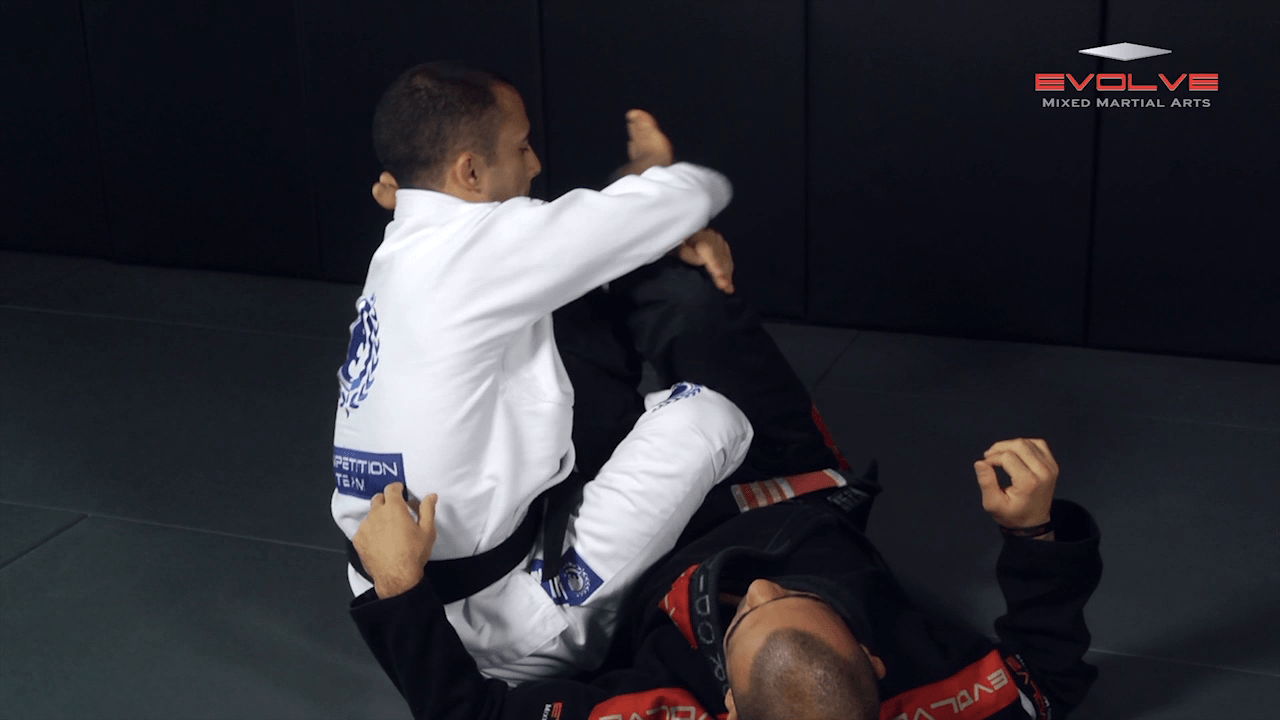 Foot Lock From Inverted Half Guard