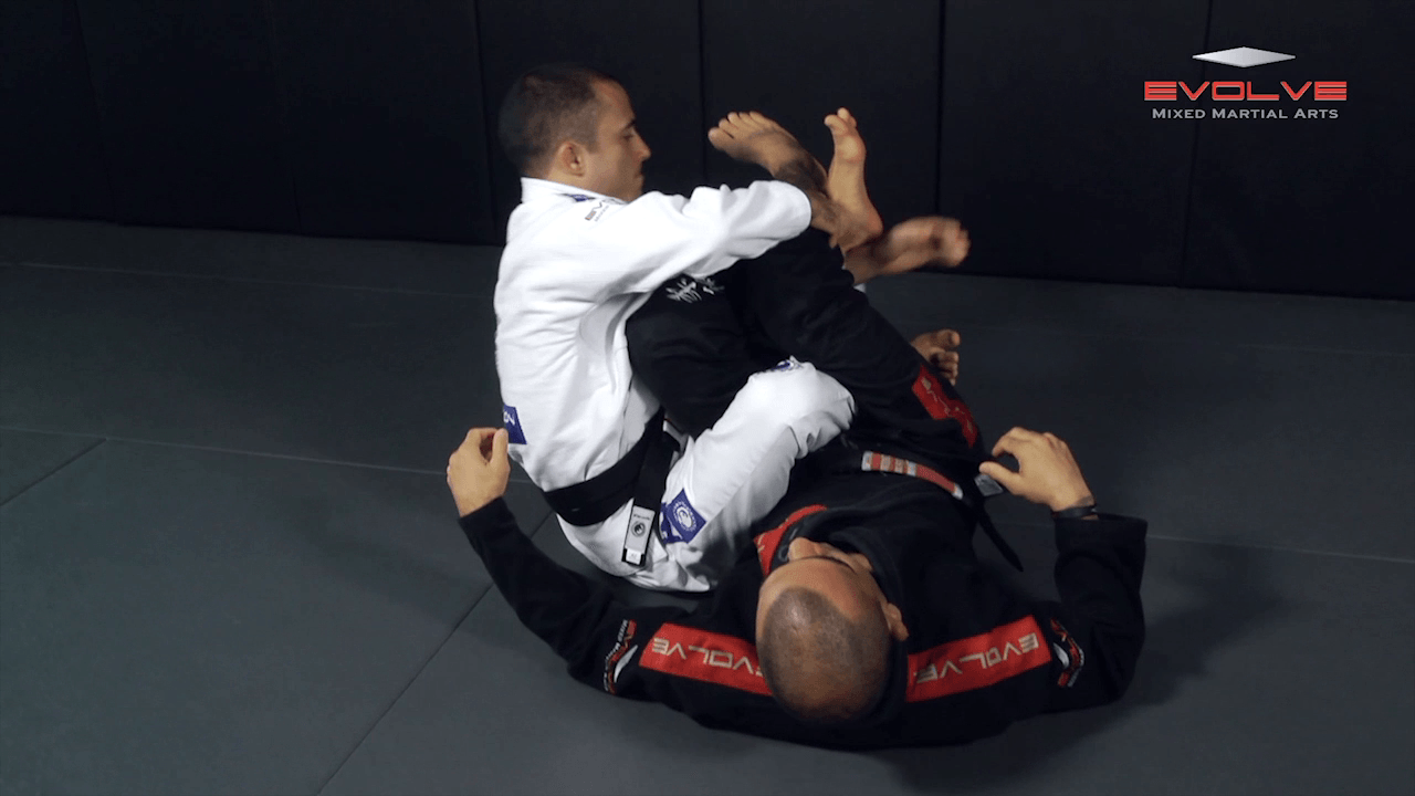 Knee Bar From Inverted Half Guard