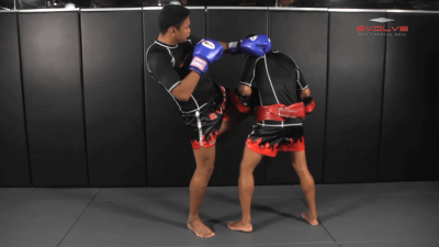 Nonthachai Sit O: Block, Left Up Elbow, Right Elbow, Left Knee