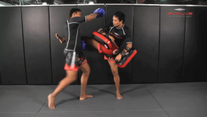 Nonthachai Sit O: Slide & Catch, Right Elbow, Right Knee