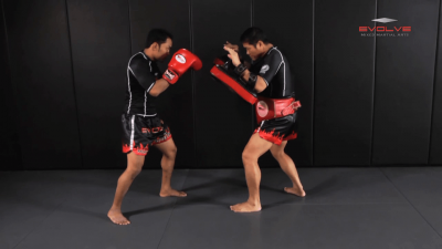 Dejdamrong Sor Amnuaysirichok: Side Step, Right Low Kick, Left Hook, Right High Kick