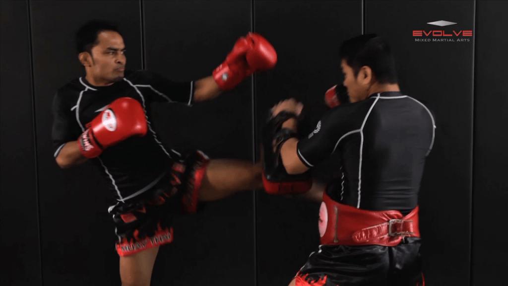 Dejdamrong Sor Amnuaysirichok: Left Sweep, Left High Kick, Right Cross