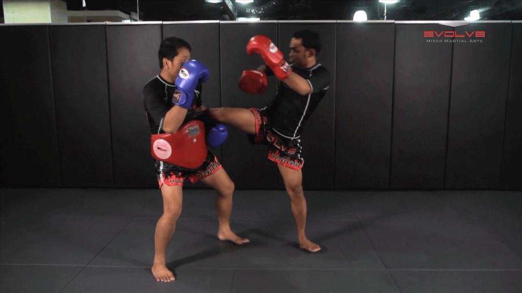 Dejdamrong Sor Amnuaysirichok: Opponent Catches Kick, Elbow, Turn & Knee