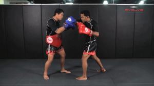 Dejdamrong Sor Amnuaysirichok: Inside Low Kick, Right Elbow, Push Away & Right Kick