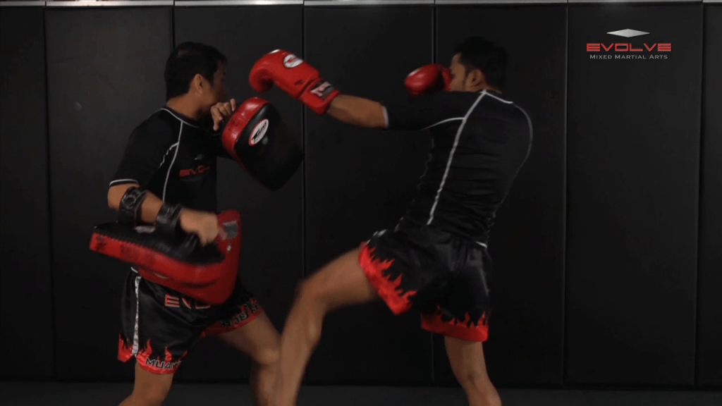 Dejdamrong Sor Amnuaysirichok: Left Kick & Hold, Right Elbow