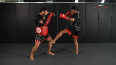 Dejdamrong Sor Amnuaysirichok: Inside Low Kick, Right Up Elbow, Left High Kick
