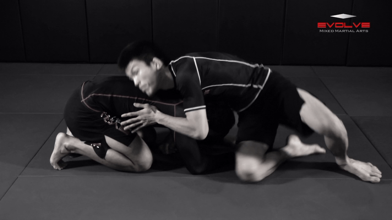 Guillotine Choke Variation From Turtle Position