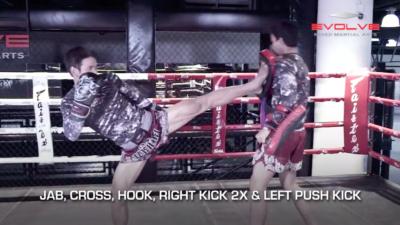4 Push Kick Combinations For Muay Thai