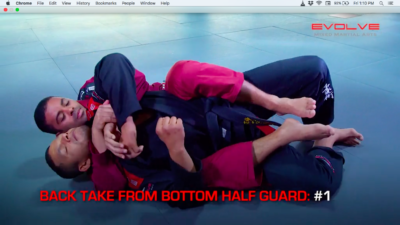 3 Back Takes From Bottom Half Guard