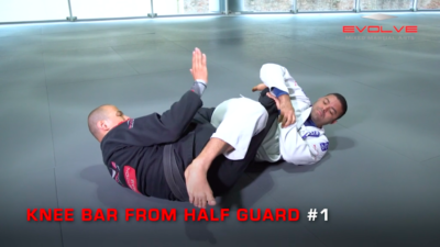 3 Knee Bars From Half Guard