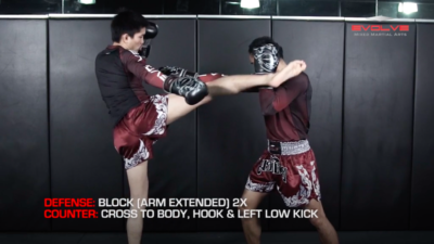 3 Ways To Defend And Counter A 1-2-High Kick Combination