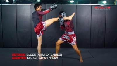 3 Ways To Defend And Counter An Uppercut-Hook-Cross-High Kick Combination