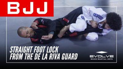 Straight Foot Lock From The De La Riva Guard