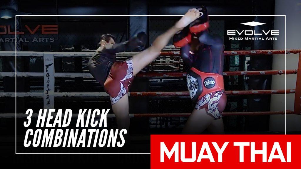3 Head Kick Combinations