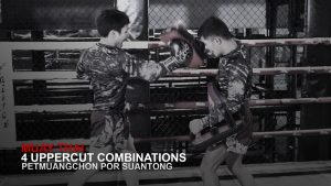 Muay Thai World Champion Petmuangchon Por Suantong's 4 Uppercut Combinations