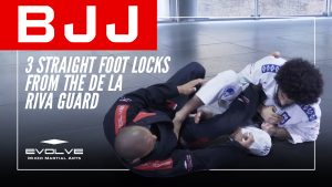 3 Straight Foot Locks From The De La Riva Guard