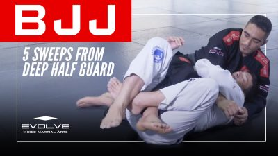 5 Sweeps From Deep Half Guard