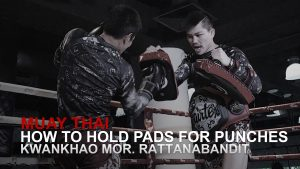 How To Hold Pads For Punches In Muay Thai