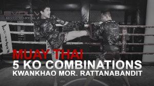 Kwankhao Mor. Rattanabandit's 5 KO Combinations