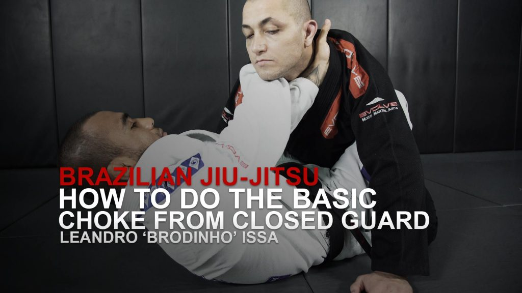 How To Do A Basic Choke From Closed Guard In Brazilian Jiu-Jitsu!