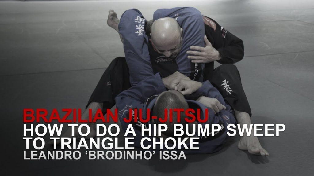 How To Do A Hip Bump Sweep To Triangle Choke