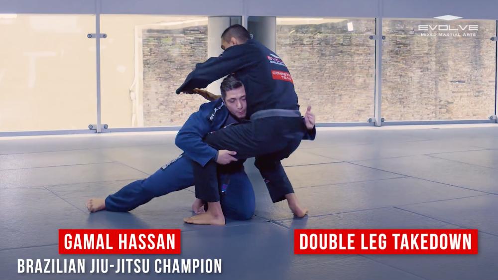 double leg takedown